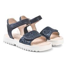 Sandaler i marineblä¥ med glitter30 (UK 11.5)