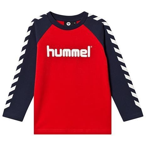 Boys T-Shirt L/S Flame Scarlet140 cm (9-10 v)