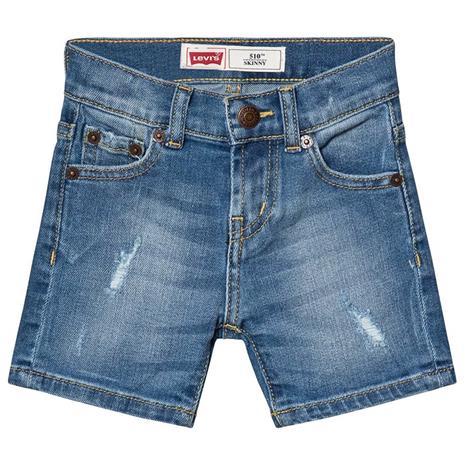 Mid Wash Distressed 510 Denim Shorts5 years