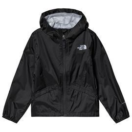 Black Girl´s Zipline Waterproof JacketM (10-12 years)