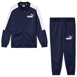 Navy Branded Baseball Collar Tracksuit13-14 years