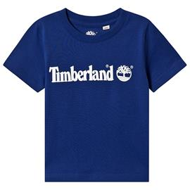 Blue Timberland Logo Tee8 years