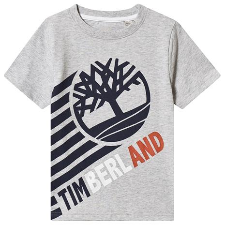Grey Timberland Tree Logo Tee8 years