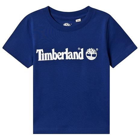 Blue Timberland Logo Tee6 years