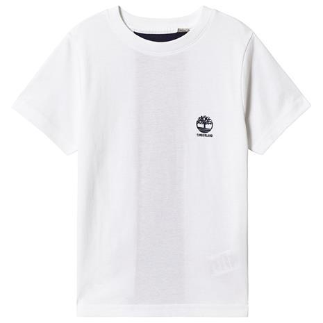 White Timberland Logo Back Detail Tee8 years