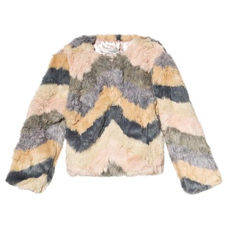 Nafaux Fur Jacket Rose Cloud152 cm (11-12 v)