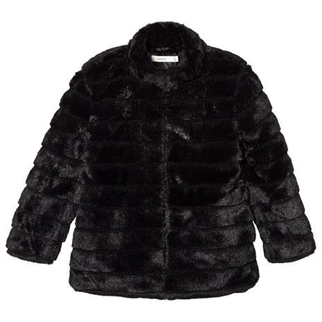 Faux Fur Jacket Black152 cm