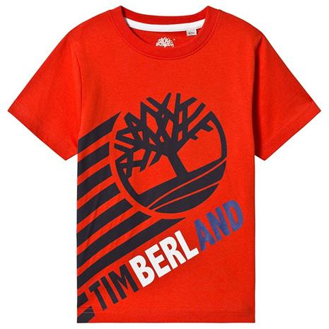 Orange Timberland Tree Logo Tee8 years