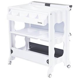 Rindö Changing table with Changing Pad and bathtub Grey bed