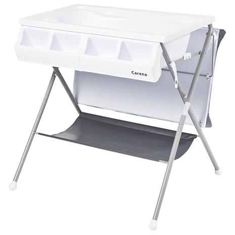 Vindö Changing Table with Changing Pad and Bath oil White bed