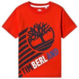 Orange Timberland Tree Logo Tee10 years