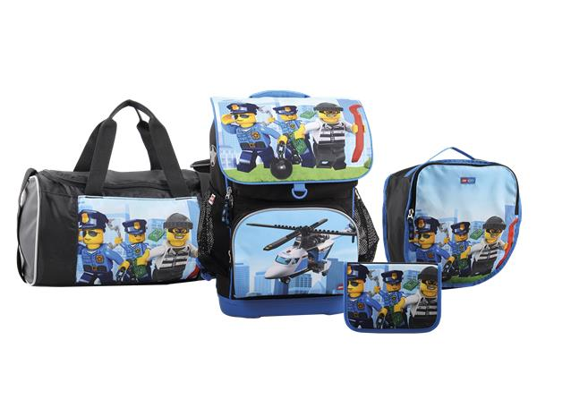 LEGO Schoolbag - Optimo - City - Police Chopper (4pcs) (20113-1835)