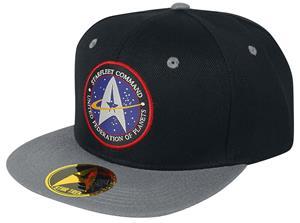 Star Trek Starfleet Command Snapback-lippis musta-punainen