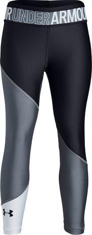 Under Armour HG Color Block Ankle Crop Leggingsit, Stealth Grey M