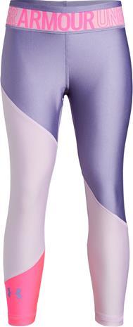 Under Armour HG Color Block Ankle Crop Leggingsit, Purple Ace XL