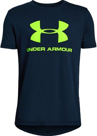 Under Armour Sportstyle Logo SS Treenipaita, Academy XL