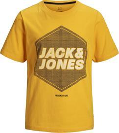 Jack & Jones Dustin Crewneck T-Paita, Gold Fusion 128