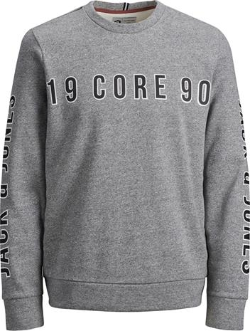 Jack & Jones Viktor Crewneck Paita, Light Grey Melange 164
