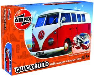 Quickbuild Volkswagen Bussi Pienoismalli, Punainen/Valkoinen