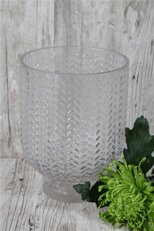 Vas mönstrat glas 24 cm