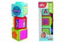 ABC Stapel Klossar med knappar