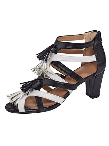 "Gennia ""Tupsusomistetut sandaletit musta"""