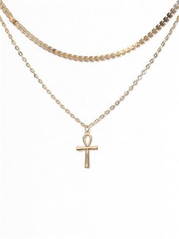 Missguided Jewelry Cross Choker Multirow
