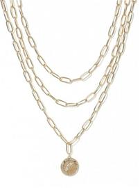 Missguided Jewelry Chunky Medalion Row