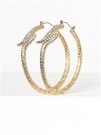 Freedom by Topshop Snake Hoop Earrings