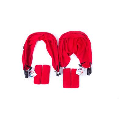 Baby Monsters Värisetti Easy Twin -rattaisiin, Red - punainen