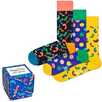 Happy socks 3 pakkaus Happy Birthday Gift Box * Ilmainen Toimitus *