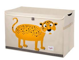 3Sprouts Toy Chest lelulaatikko leopardi