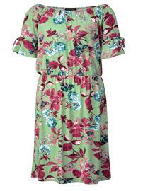 """Sara Lindholm"""" """"Kukkakuvioitu carmen-mallinen mekko Mintunvihreä"""