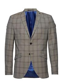 Selected Homme Slhslim-Riclogan Sand Check Blazer B Ruskea