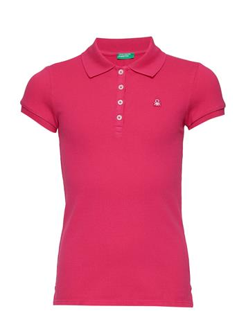 United Colors of Benetton H/S Polo Shirt Punainen