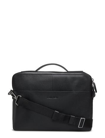 Calvin Klein Slim Laptop Bag Musta