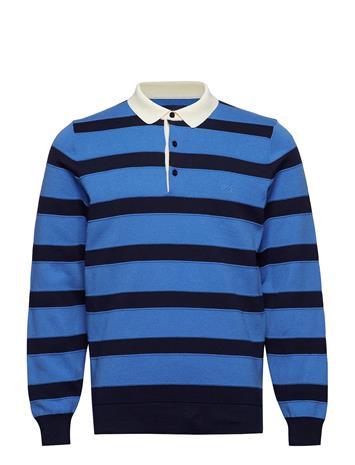 GANT O1. Knitted Striped Rugger Sininen