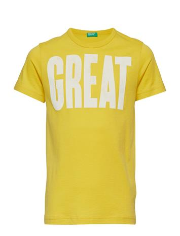 United Colors of Benetton T-Shirt Keltainen