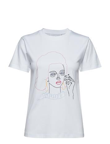 Cathrine Hammel Embroidered Maja Tee-Shirt Valkoinen
