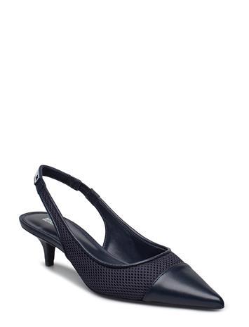 Michael Kors Shoes Demi Flex Kitten Sling Sininen