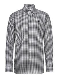 Fred Perry 2 Col Gingham Shirt Musta