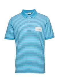 Calvin Klein Oxford Stripe Pique Polo Sininen