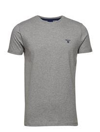 GANT O1. Contrast Logo T-Shirt Harmaa