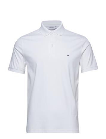 Calvin Klein Soft Interlock Chest Logo Polo Valkoinen