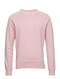 GANT O2. Sunbleached C-Neck Sweat Vaaleanpunainen
