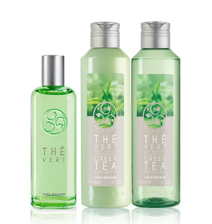 Yves Rocher Setti - Green Tea, EdT, Suihkugeeli, Vartaloemulsio