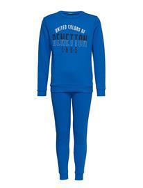 United Colors of Benetton Set Sweater+Trousers Sininen