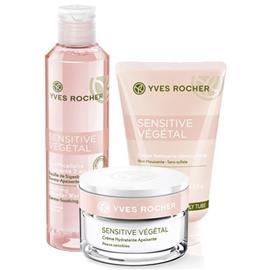 Yves Rocher Setti - Sensitive Vä©gä©tal, Puhdistusvoide, Misellikasvovesi, Päivä- ja yövoide