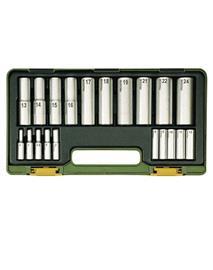 Yhdistelmäavainsarja Proxxon 1/2''+1/4'', 4-24 mm; 20 kpl.