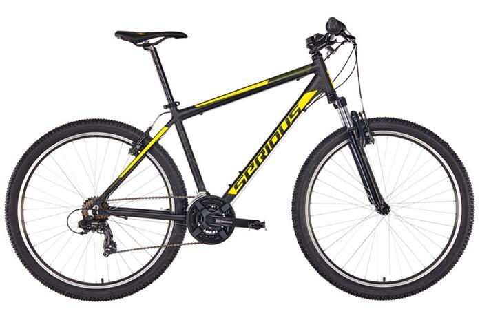 Serious Rockville etujousitettu maastopyörä 27,5'' , keltainen/musta